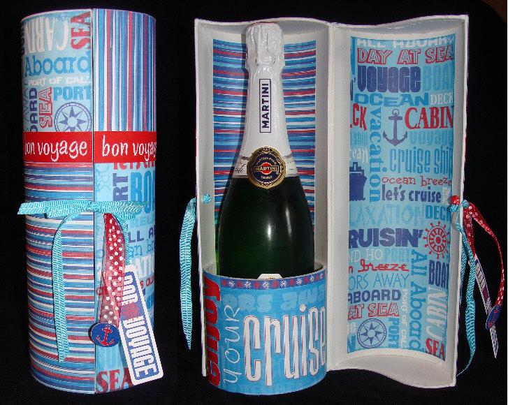 bon voyage gift - champagne bottle box