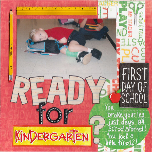 ready for kindergarten? layout