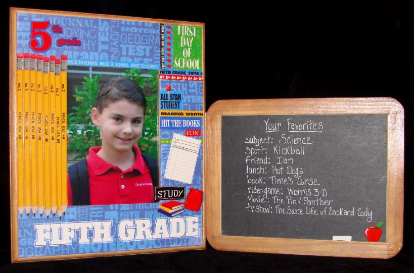 fifth grade frame & chalkboard set
