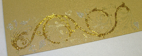 gold glitter applied