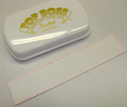 tinted embossing pad makes it easy to see where you are applying it