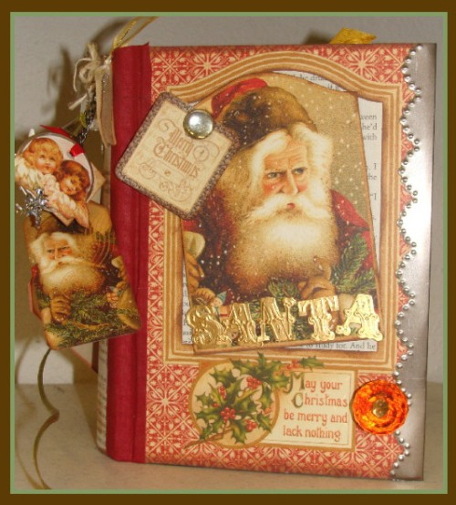 altered christmas book