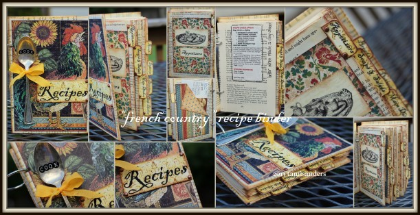 2013-05 cookbook binder - collage