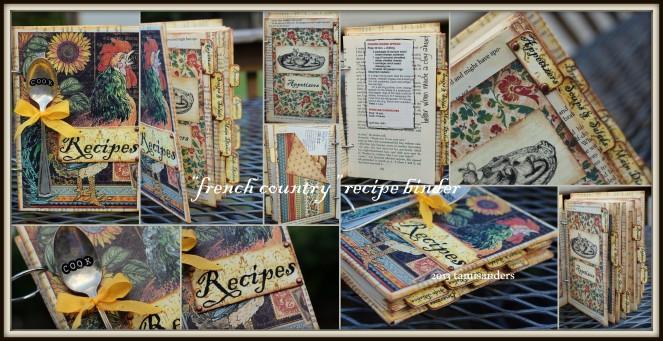 2013-05 cookbook binder - collage