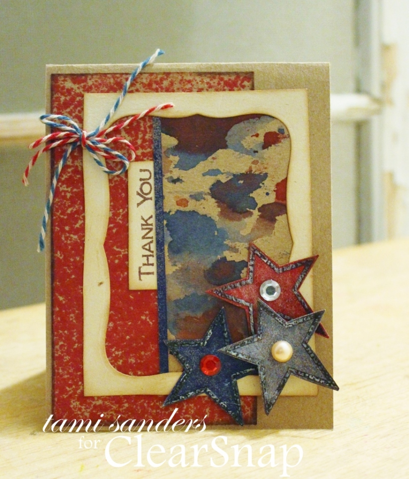 thank you service card_clearsnap_colorbox_patriotic card_ dye ink_4th of july_stamped_top boss_tami sanders wm