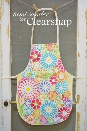 kids apron - ann butler_crafters ink_colorbox_clearsnap_altered apron_childs apron_stencils_inking stencils_the crafters workshop_tami sanders - apron wm