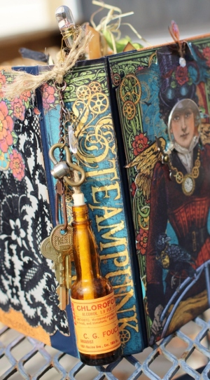 steampunk altered book - spine use (566x1024)