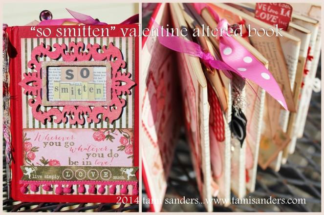 2014 valentines altered book collage 1