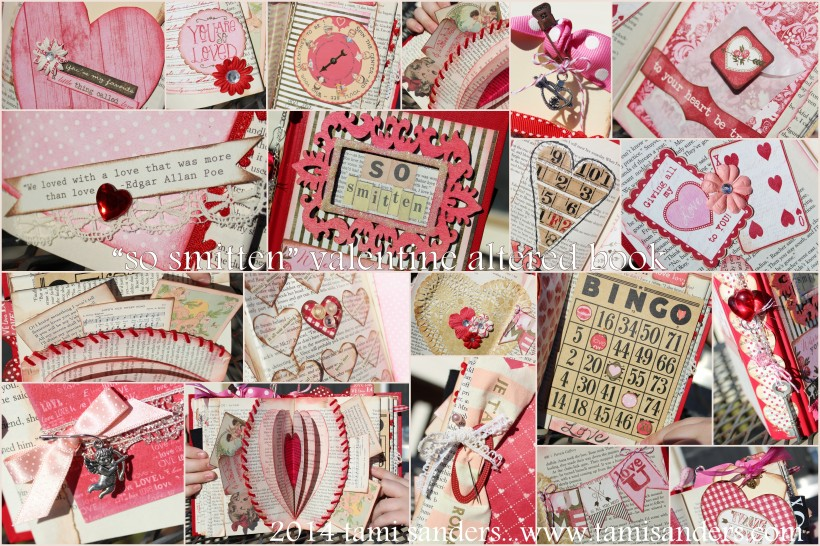 2014 valentines altered book collage 2