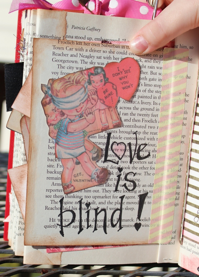 2014 valentine altered book -  back of bingo - 10 & 11