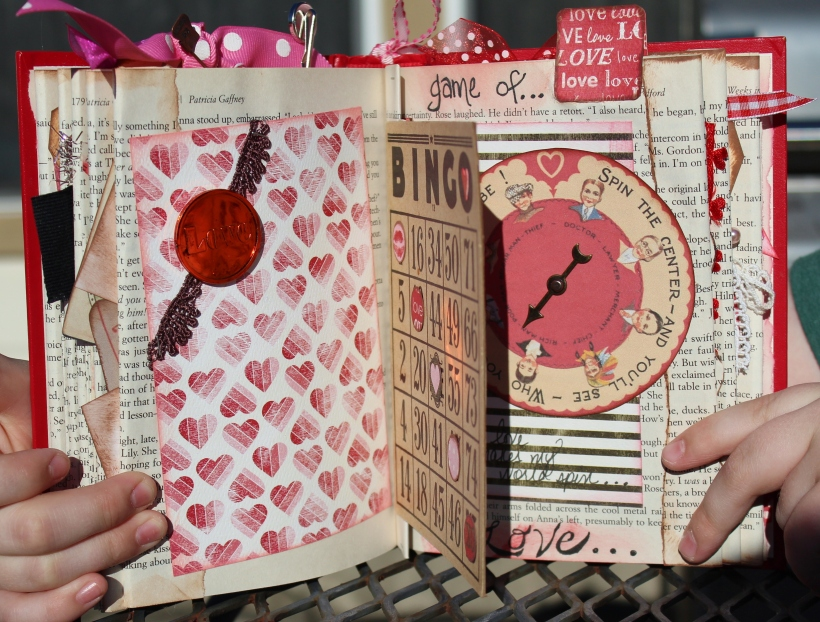 2014 valentine altered book - page 10-11