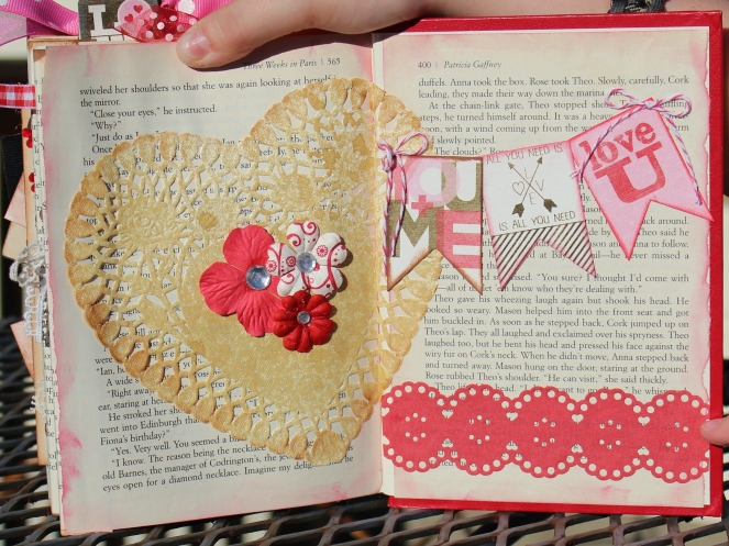 2014 valentine altered book - page 16 & ins back cover