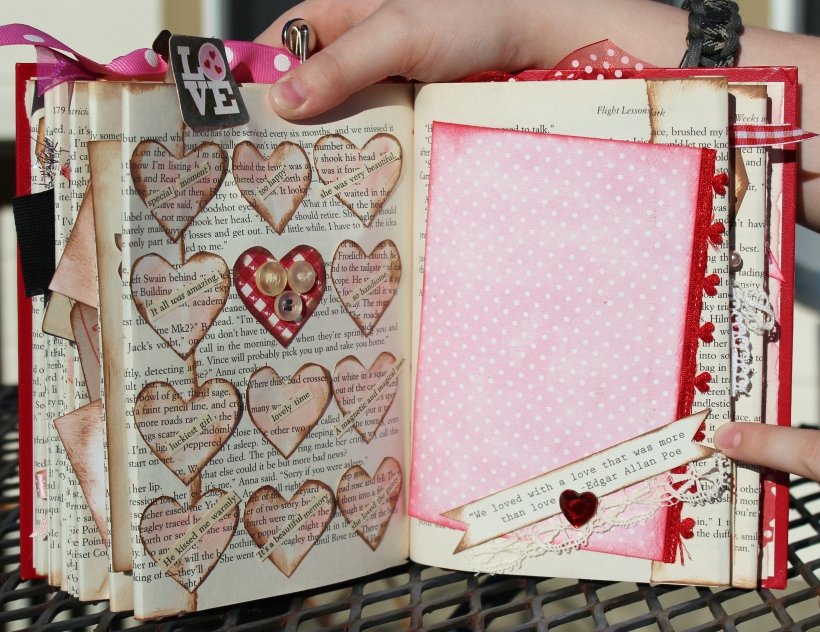 2014 valentine altered book - pages 12 & 13