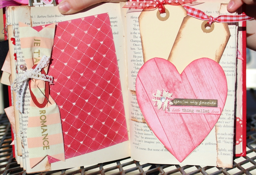 2014 valentine altered book - pages 14 & 15