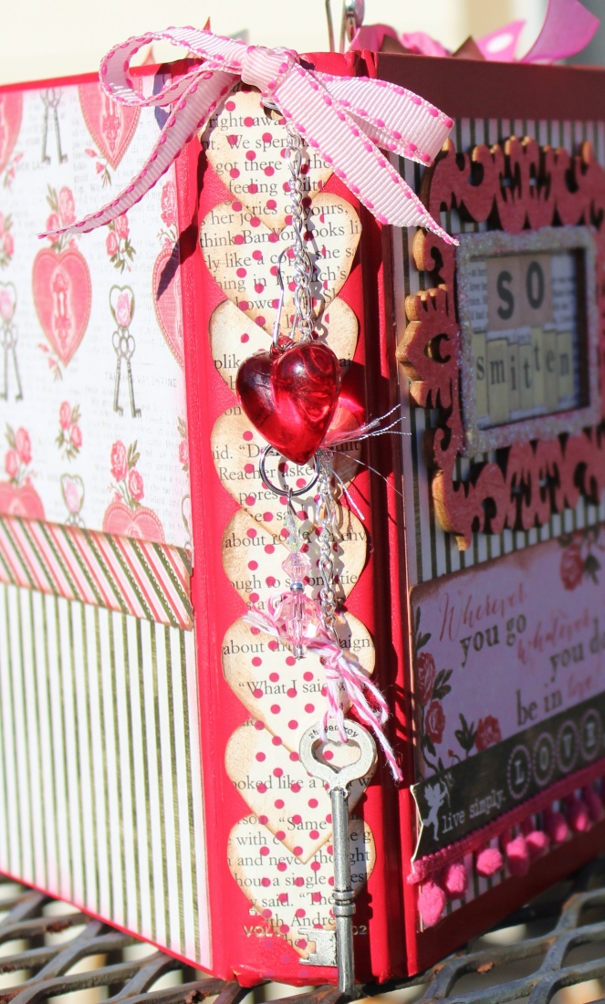 2014 valentine altered book - spine