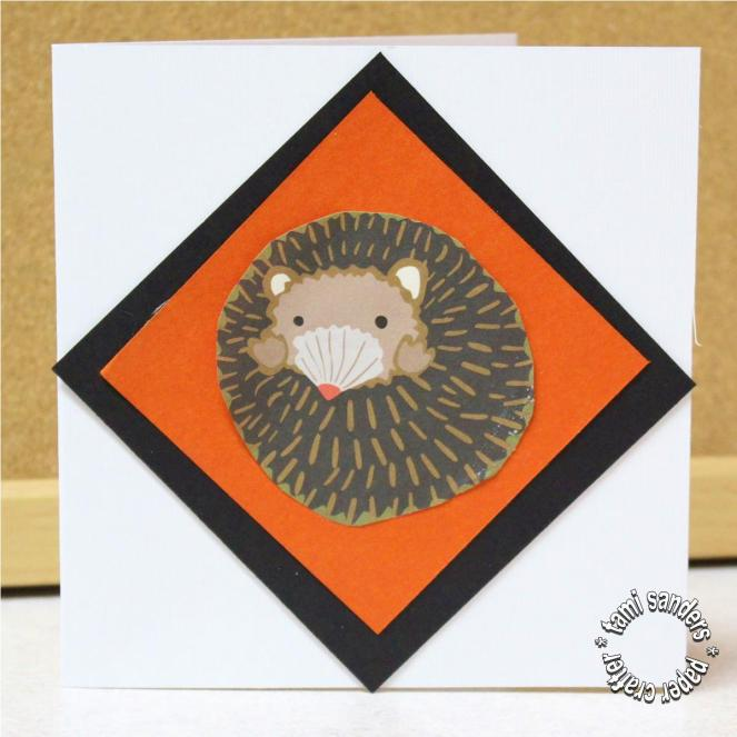 hedgehog card,paper craft,teacher card,teacher appreciation gift,tami sanders - card shwm