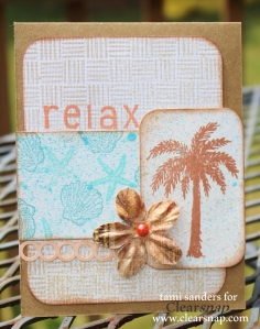 relax card - card sketch_clearsnap_colorbox_dye ink_colorbox Spritzers_dye ink spray_stamping _summer card_stamped card_beach card_tami sanders wm
