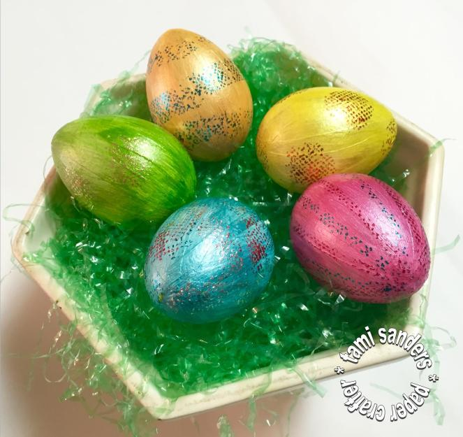 grafix - foiled,foiling,easter eggs,dry adhesive,artist-tac,tami sanders - WM