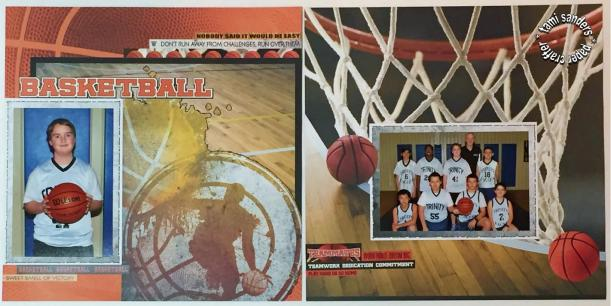 basketball layout - reminisce - wm